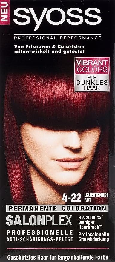 syoss 4 – 22 brillan en rojo de violeta color del pelo (3 unidades, X 115 ml)