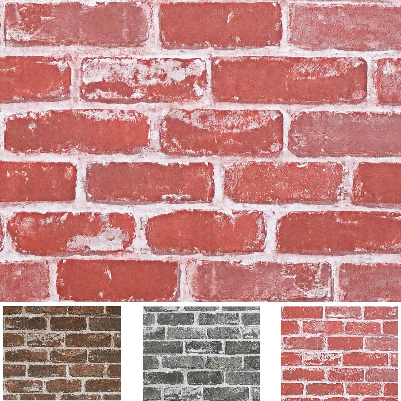 Timeet Textured 3d Red Brick Wallpaper Peel And Stick Wallpaper Self Adhesive Wallpaper Faux Brick Wallpaper Removable Wall Paper Home Room Decor Vinyl Look Real 17 7 197 Amazon Com