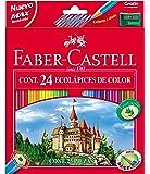 Faber Castell 120124 - Pack de 24 lápices de colores
