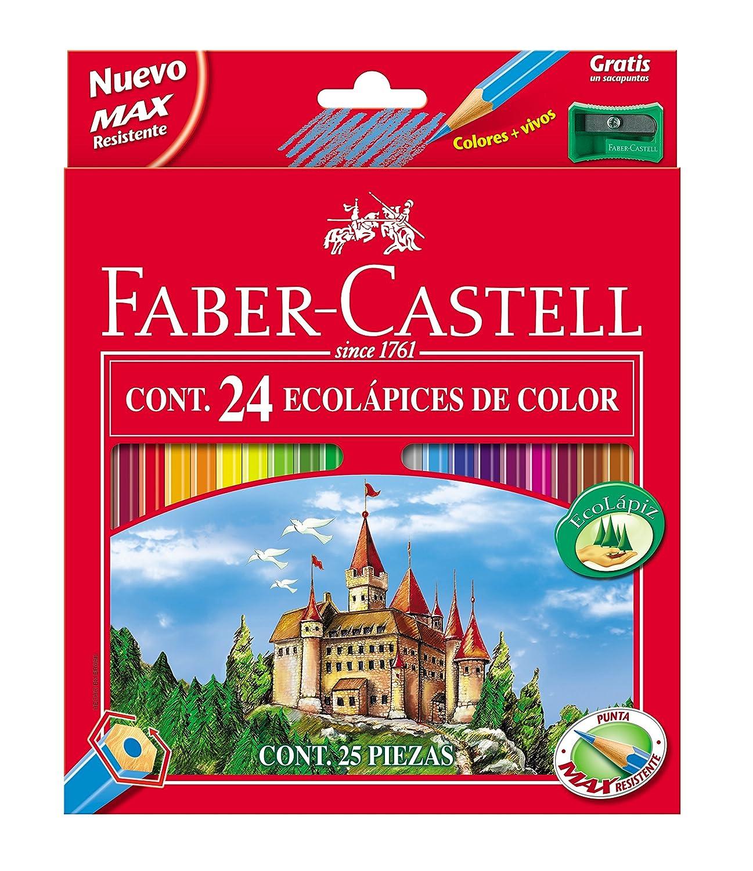 Faber-Castell 115888 - Estuche de de de metal con 48 lápices de colores, 2 ecolápices de grafito, goma de borrar y afilalápices, multicolor 6804b0