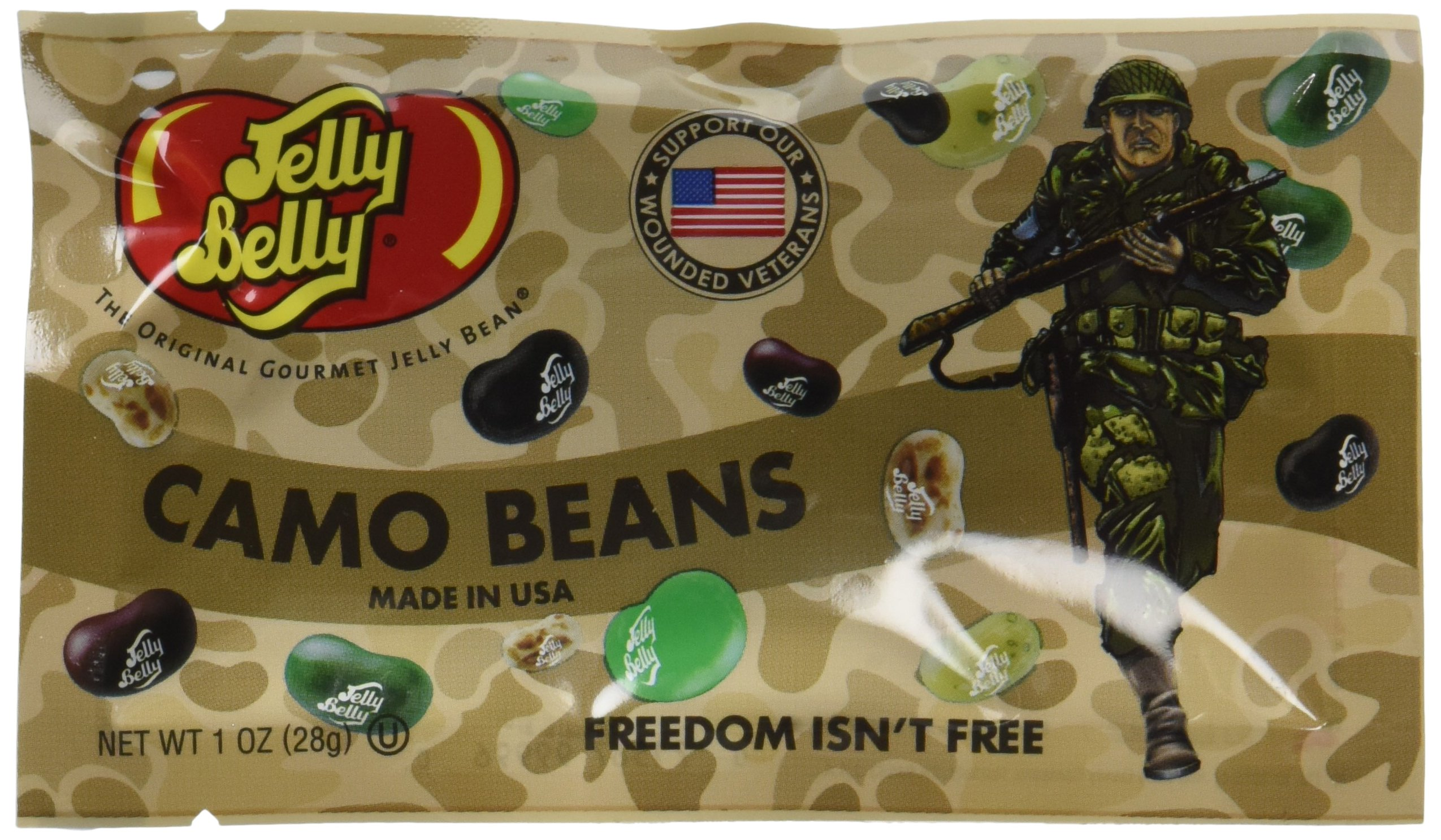 Jelly Belly Freedom Fighters Camo Jelly Beans, Assorted Flavors, 1-oz, 30 Pack by Jelly Belly