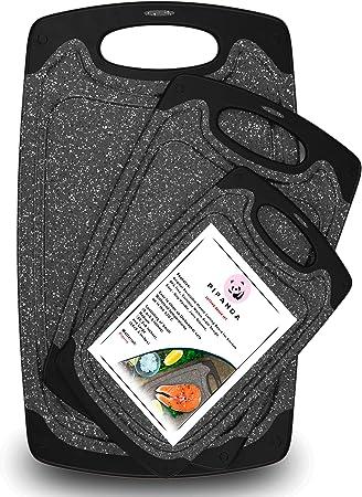 Amazon.com: PIPANDA - Tabla de cortar de plástico reversible ...