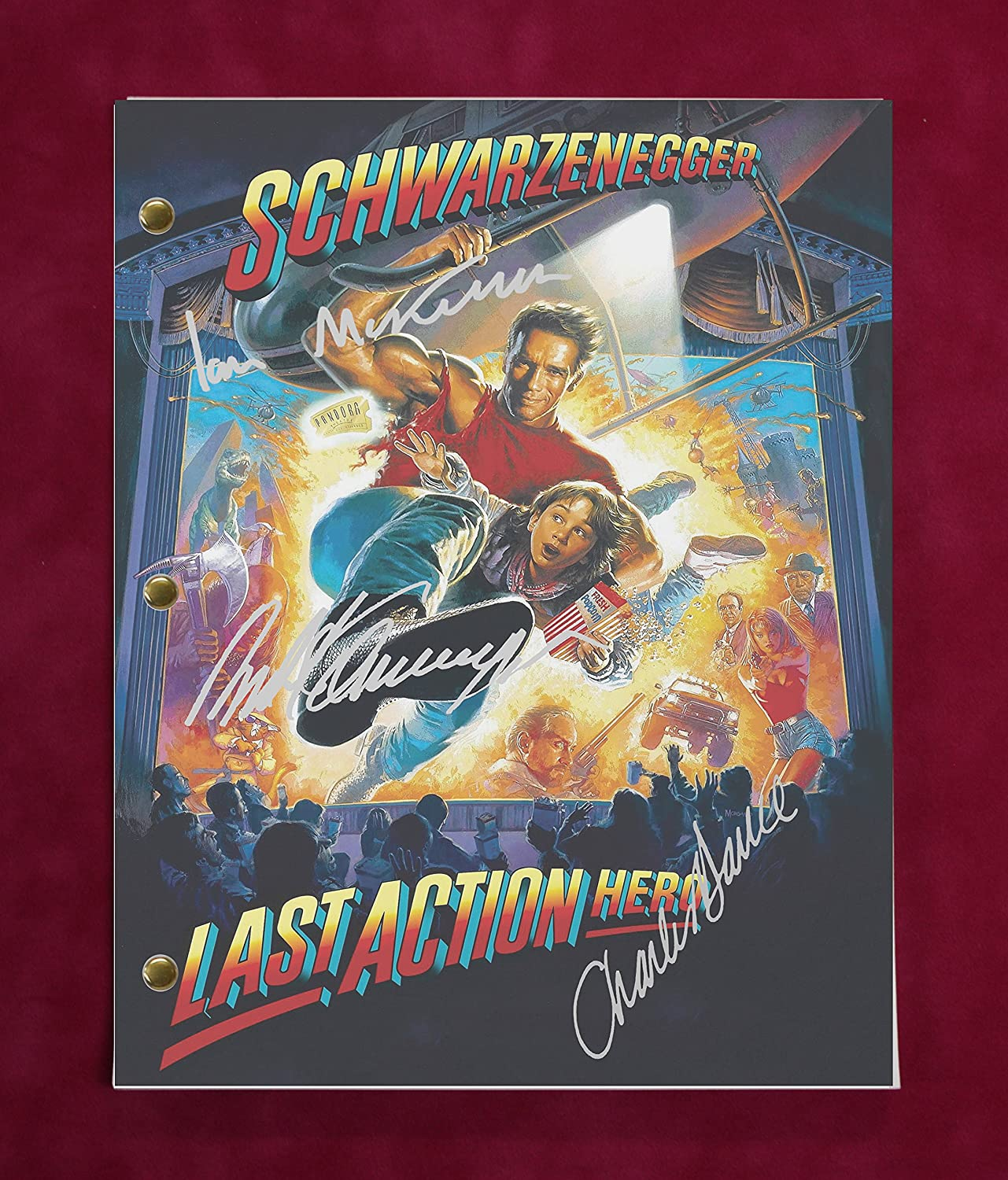 Last Action Hero Script w/Reproduction Signature Schwarzenegger and Dance C3