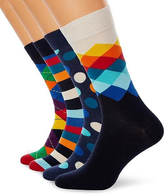 Happy Socks Mix Gift Box Calcetines (Pack de 4) para Mujer: Amazon ...