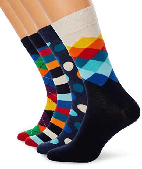 Happy SPORTING_GOODS Gift Box, Calcetines para Mujer, Mehrfarbig (Mix) 41-46 Pack de 4: Amazon.es: Ropa y accesorios