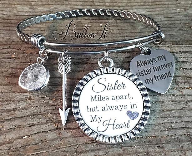 Amazon com: BANGLE bracelet, Sister gift, Sister bracelet