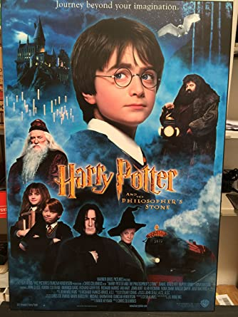 Harry Potter And The Philosophers Stone Movie Poster Art On Wood
