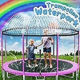 Trampoline Sprinkler Toys for Kids, 39ft Trampoline Water Park Sprinkler Outdoor Backyard Trampoline for Kids Fun Summer Outd