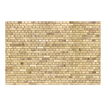 Vliestapete U2013 Ziegel Effekt Tapete U2013 Pale Brick Wall U2013 Wandbild Breit