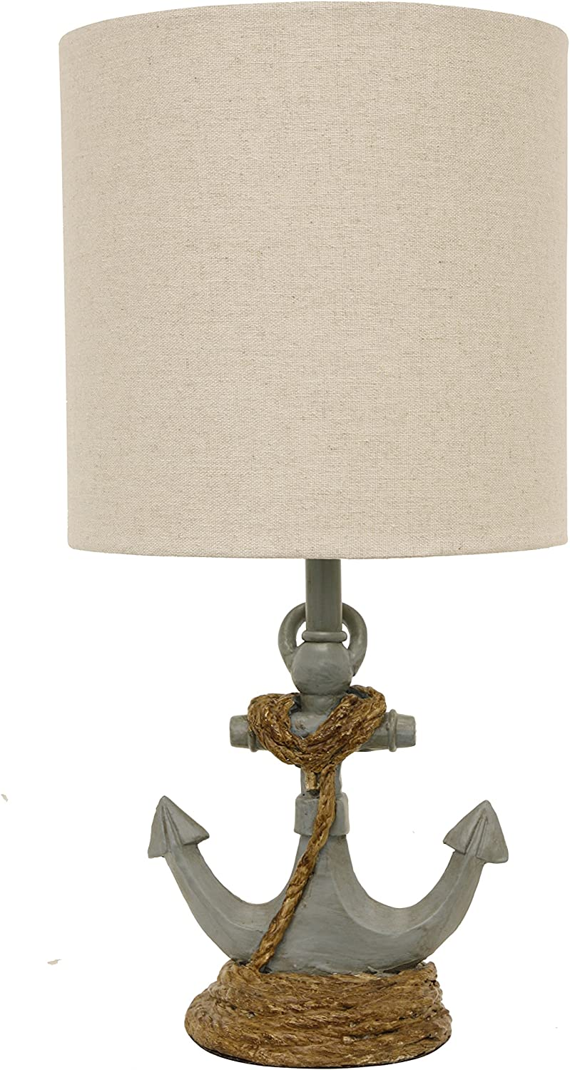 Décor Therapy TL15453 Table Lamp, Antique Iced Blue