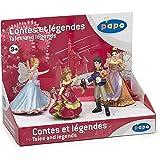 Papo - 80500 - Figurine - Contes et Légendes 1 - Boîte Présentoir - Reine des Elfes / Elfe Papillon Bleu / Princesse Lilas / Prince Simbad