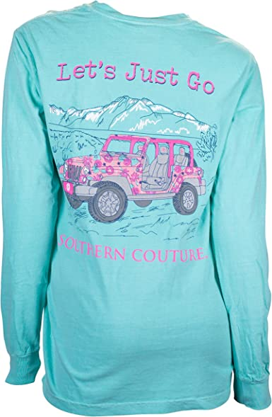 Southern Couture Lets Just Go Jeep Comfort Colors T-Shirt