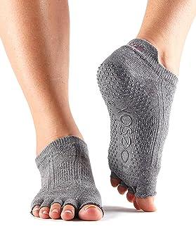 Toesox Calcetines Antideslizantes Media Altura para Yoga, Pilates, Calcetines Antideslizantes de Fitness - 1 par: Amazon.es: Deportes y aire libre