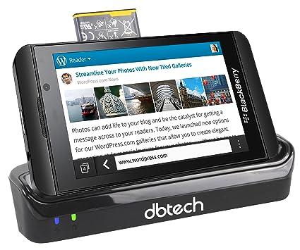 5923c426dfd DB Tech estación de sobremesa Pod duales Cargador para el BLACKBERRY  completamente Nueva 10 Blackberry Z10 ...