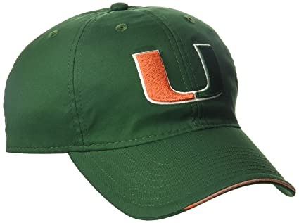 adidas NCAA Miami Hurricanes Adult Men Coach s Adjustable Slouch Hat ead37e65f72