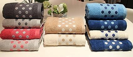 ARTEGUI-Juego de 3 toallas de lujo, 100% algodón fabricadas en Portugal.