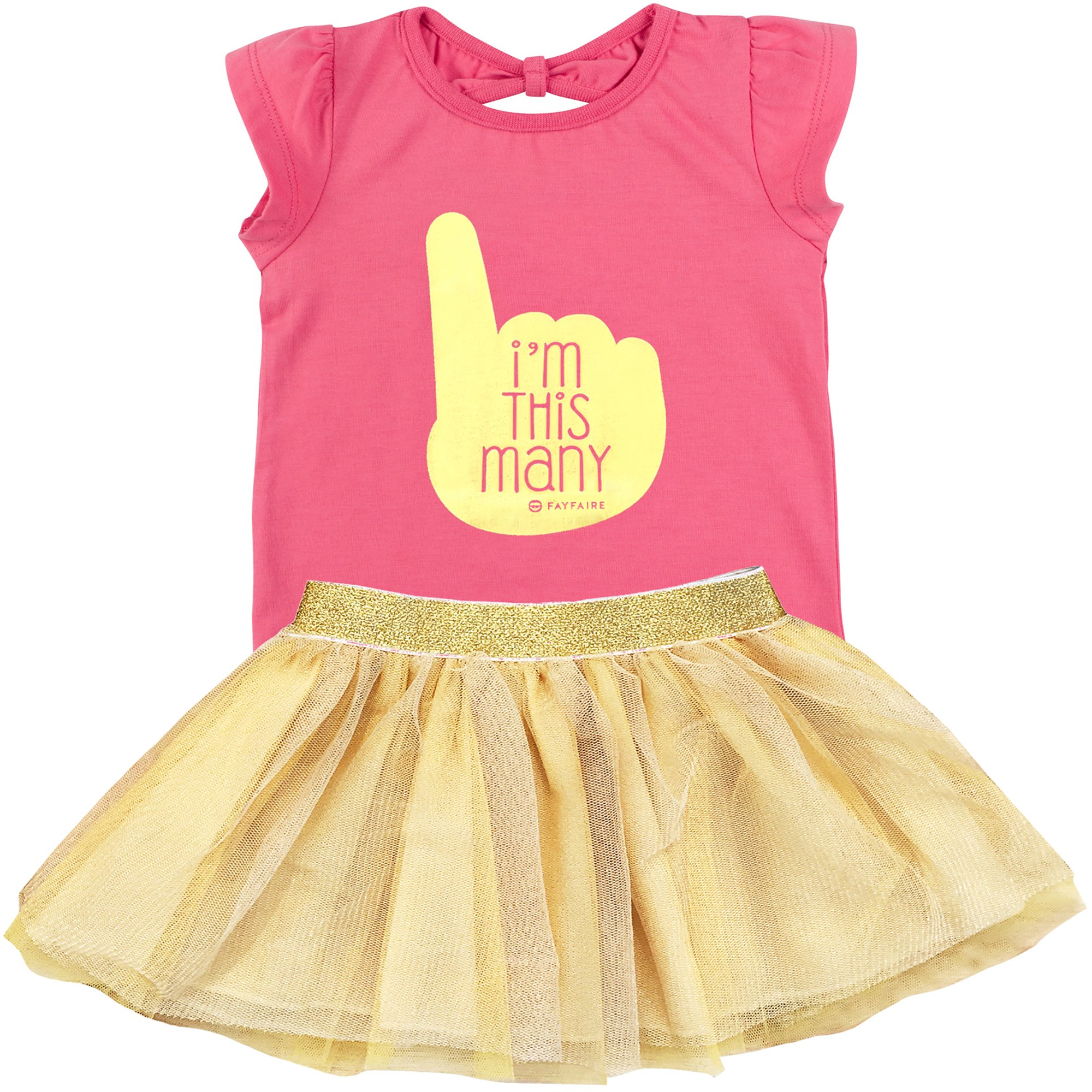 Fayfaire First Birthday Shirt Outfit: Boutique Quality 1st Bday Girl I'm This Many 18M