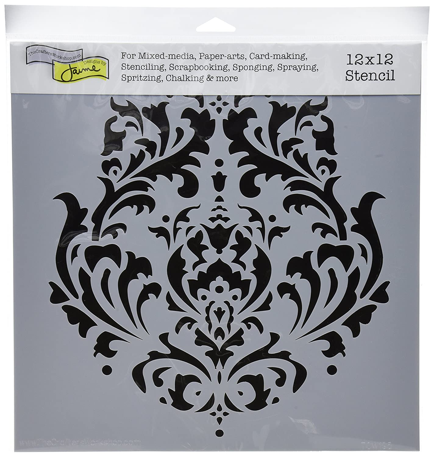 Crafters Workshop 12 x 12-inch Crafter's Workshop Template Brocade 453385
