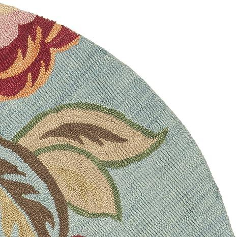 8fb7ac0c2c Amazon.com: Safavieh Blossom Collection BLM675A Handmade Blue and Multi  Premium Wool Runner (2'3