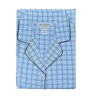 Bill Baileys Sleepwear Mens Broadcloth Woven Nightshirt Sleep Shirt at Men's Clothing store