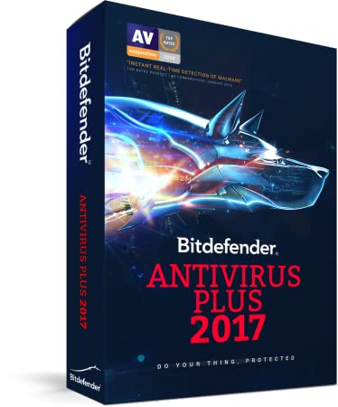Bitdefender Antivirus Plus 2017 | 3 PC, 1 Year | Download [Online Code]