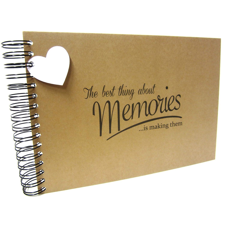 A5 A4 Best Memories, Scrapbook, Card Pages, Photo Album, Keepsake, Landscape (A4 (Black Pages)) Scrapbook Wonderland