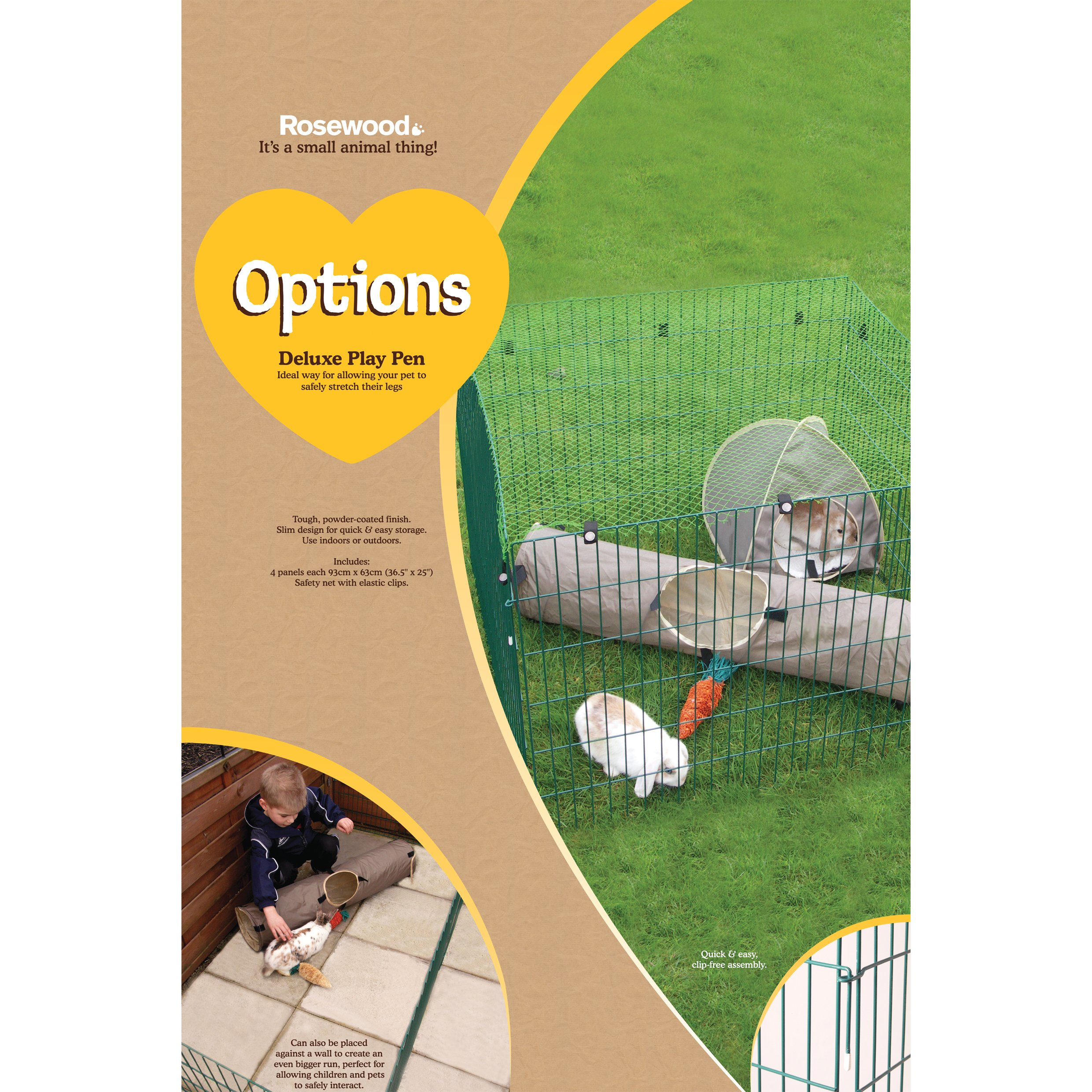 Rosewood Pet Deluxe Play Pen by Rosewood Pet