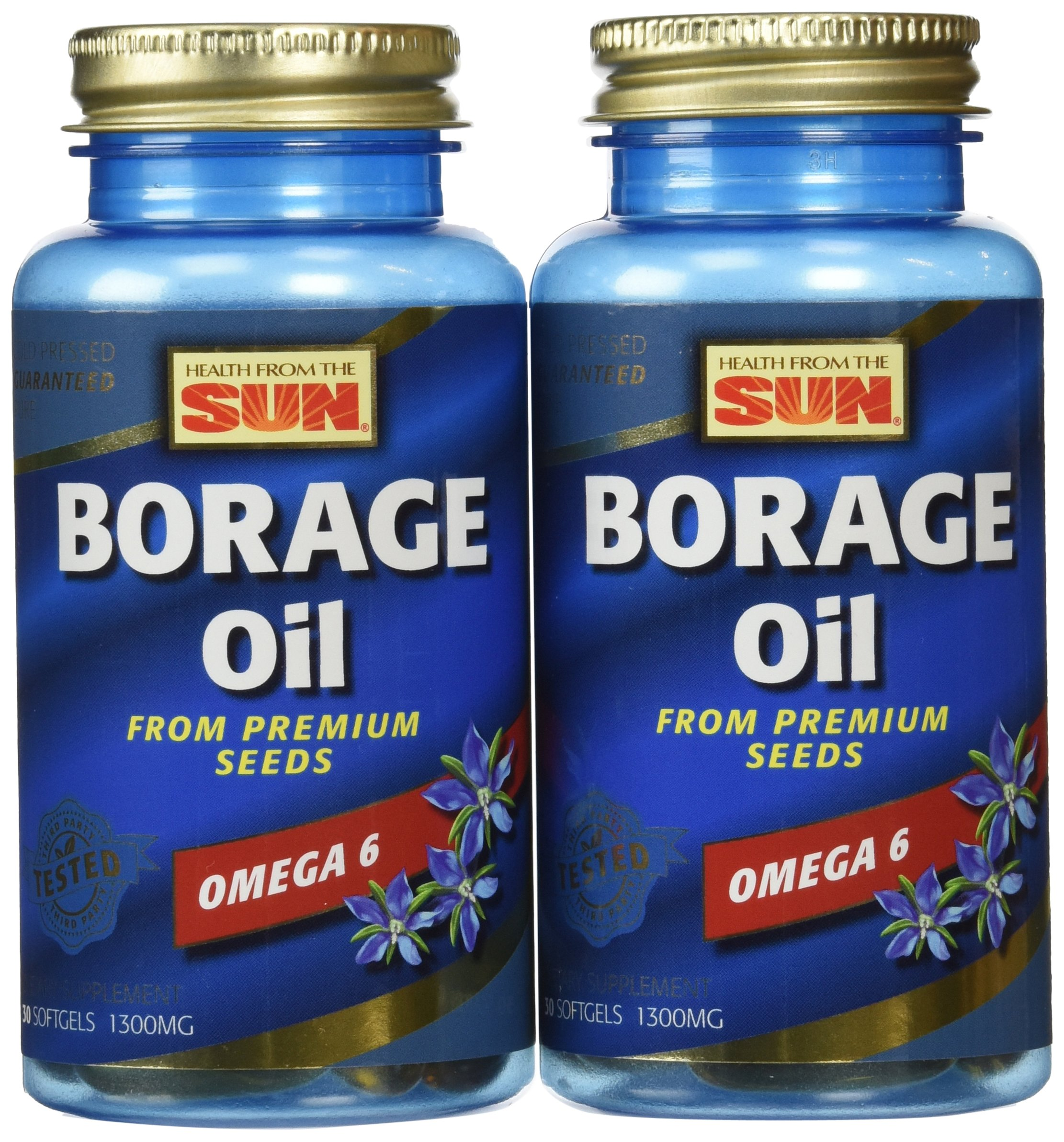 Health from the Sun Borage Oil 300 mg, 30 Capsules (Pack of 2) by Health From The Sun