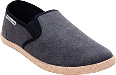 New Mens Slip On Casual Canvas Espadrilles Flat Plimsolls Trainers Pumps Shoes