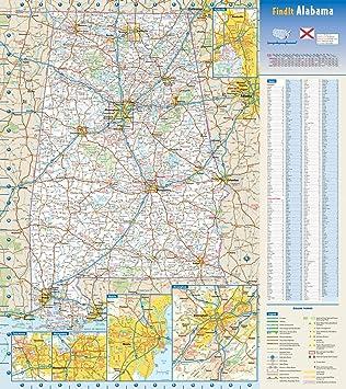 Alabama State Wall Map Large Print Poster 24x32