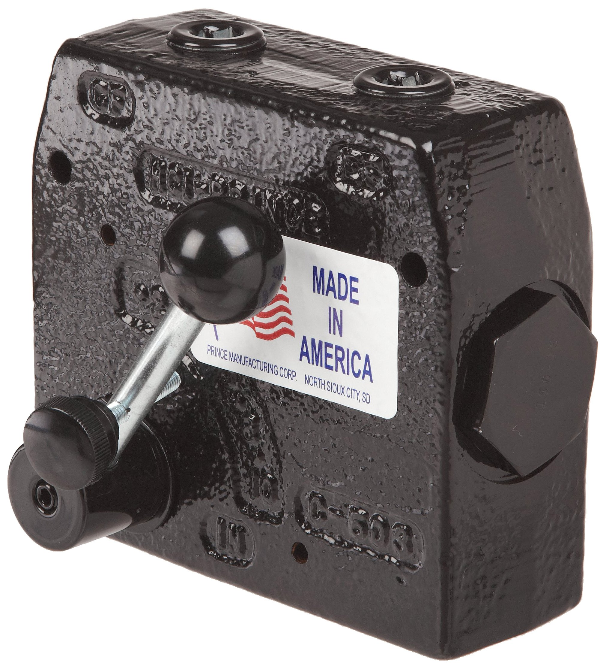 Prince RD-150-16 Flow Control Valve, Adjustable Pressure Relief, Cast Iron, 3000 psi, 0-16 gpm, 1/2'' NPTF