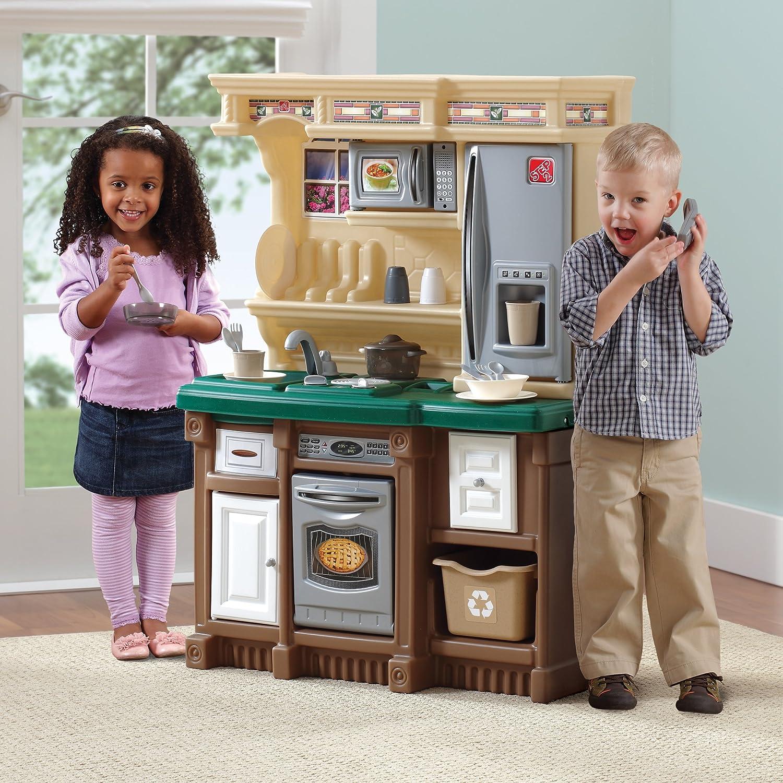 amazoncom step2 lifestyle custom kitchen ii browntangreen toys games - Step2 Lifestyle Custom Kitchen
