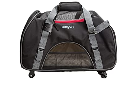 Amazon Com Bergan Wheeled Comfort Carrier Large Black Pet Supplies