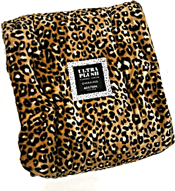 "Ultra Plush Luxury Faux Leopard Print Velvet Soft Throw Blanket | 60"" x 70"""