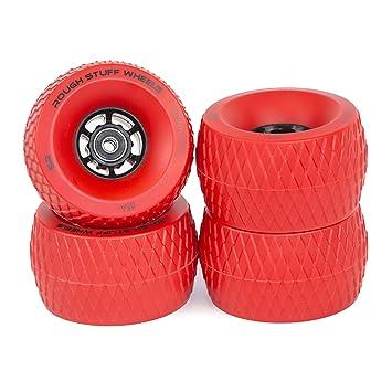 Slick Revolution - Ruedas de patinaje rojas: 4 unidades Jumbo 110 mm Rough Terrain Longboard
