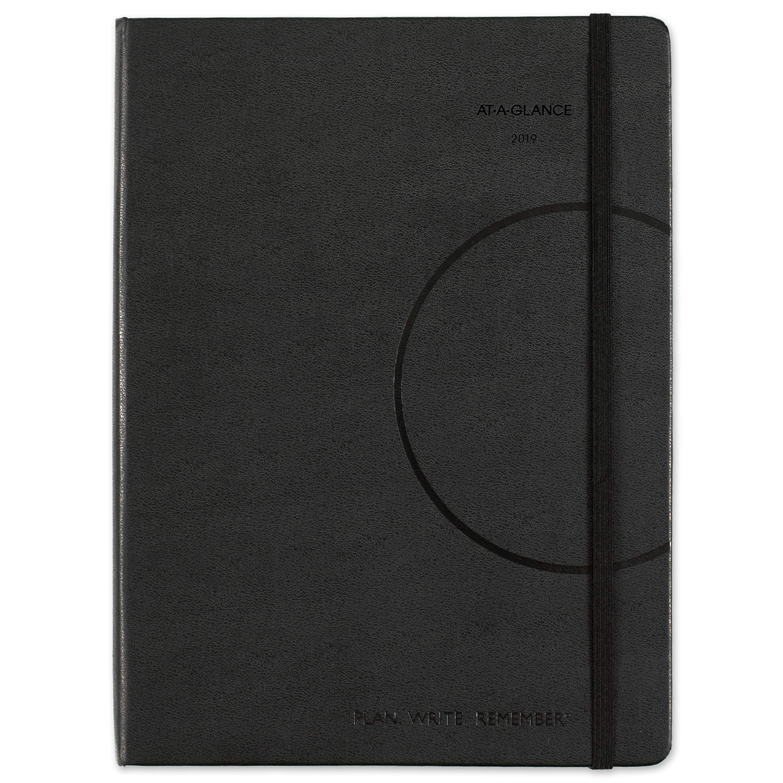 AT-A-GLANCE 2019 Weekly / Monthly Appointment Book / Planner, Plan.Write.Remember., 7-3/8'' x 9-3/4'', Medium, Black (70695005)