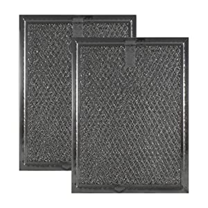 "2-Pack Air Filter Factory Compatible Replacement for Frigidaire 5303319568 Aluminum Grease Mesh Microwave Oven Filter 5-7/8"" x 7-7/8"" x 1/8"" AFF81-M"