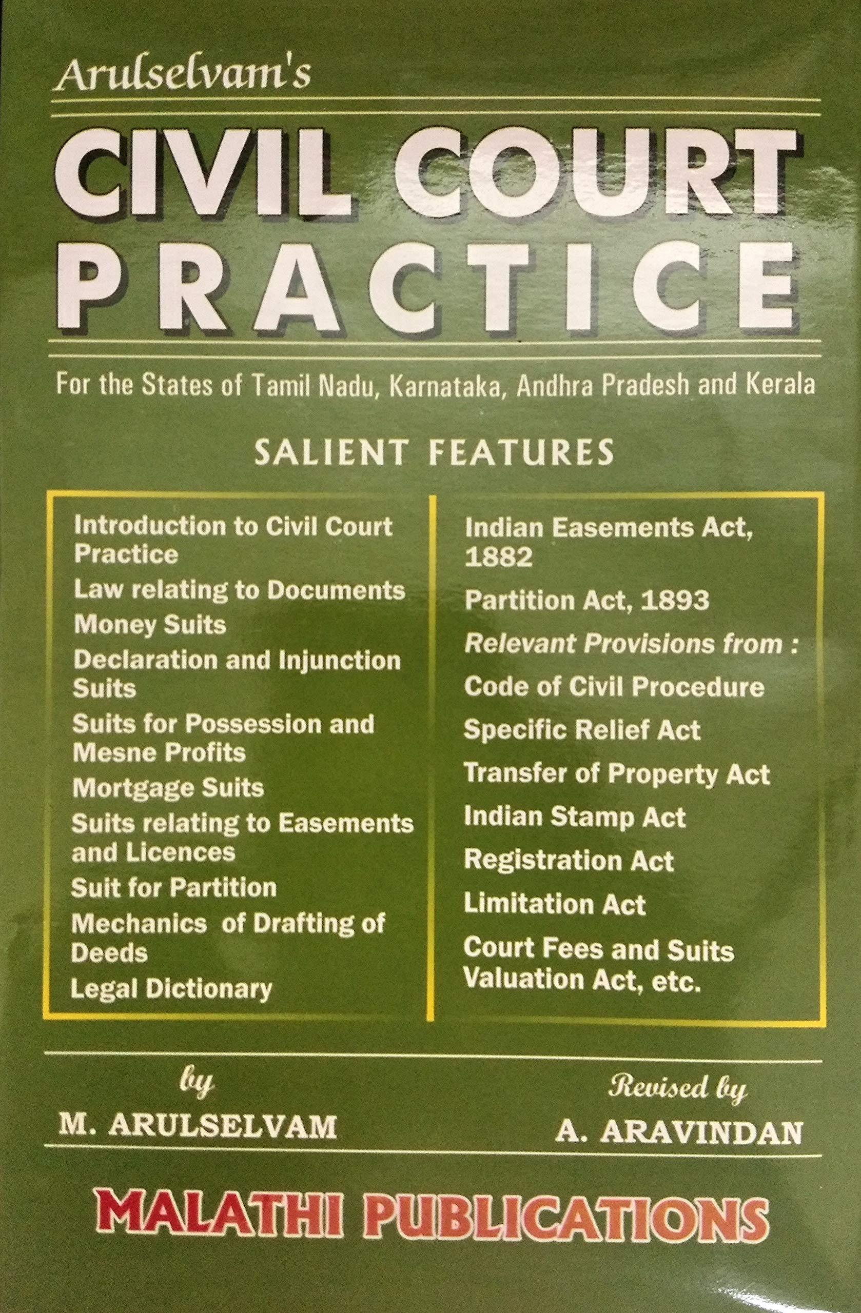 Civil Procedure Code Book In Tamil