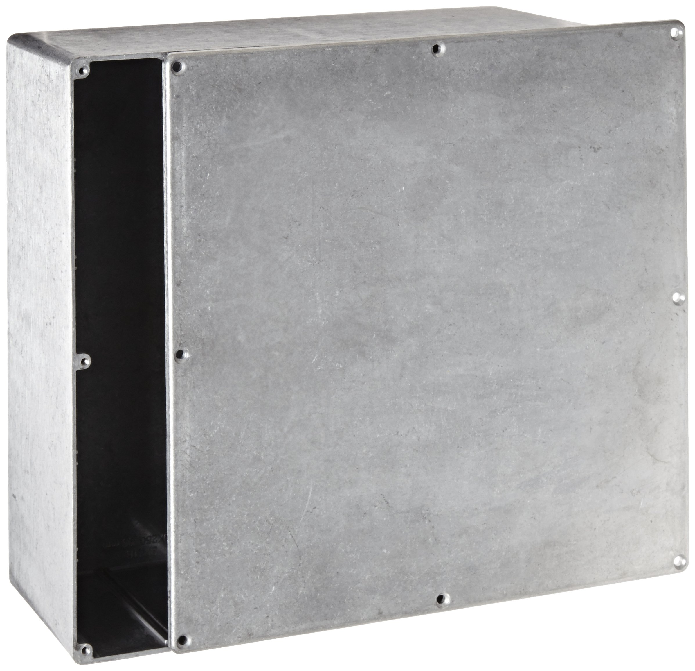 BUD Industries CN-5713 Die Cast Aluminum Enclosure, 9-27/32'' Length x 9-27/32'' Width x 4'' Height, Natural Finish