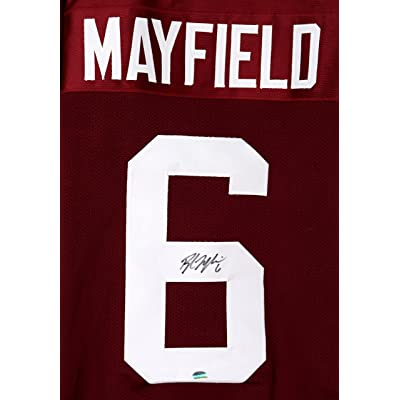 pick up b7f9d 1e1bd Baker Mayfield Oklahoma Sooners Signed Autographed Crimson ...