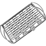 Fish Grill Basket SM - PERFECT FOR LARGE THICK FISHES - BBQ Rack Made From Dishwasher Safe Stainless Steel with Wire Mesh Food Holder - Great for Grilling Barbecue Vegetables & Shrimp - Cave Tools