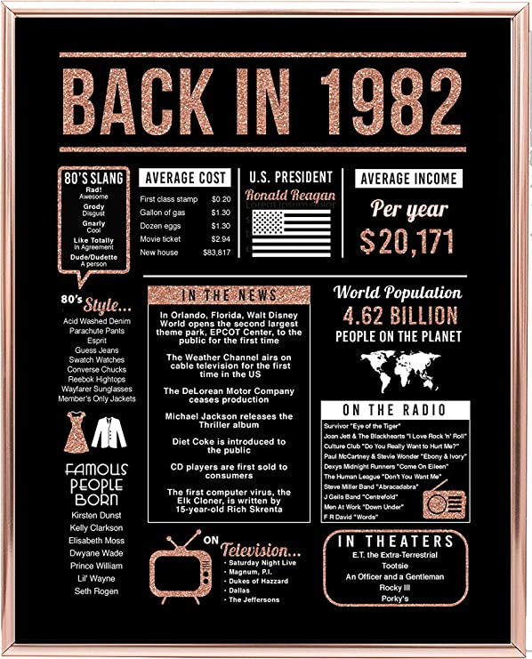 Back in 1981 Poster Party Decoration 1981 39th Birthday Gift