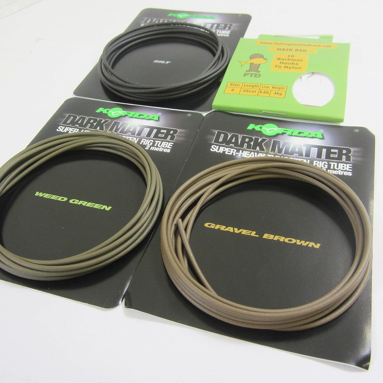 Karpfenrigs Karpfenangeln Korda Dark Matter Tungsten Tubing 2m Schlauch f/ür Karpfenmontagen Rigtube