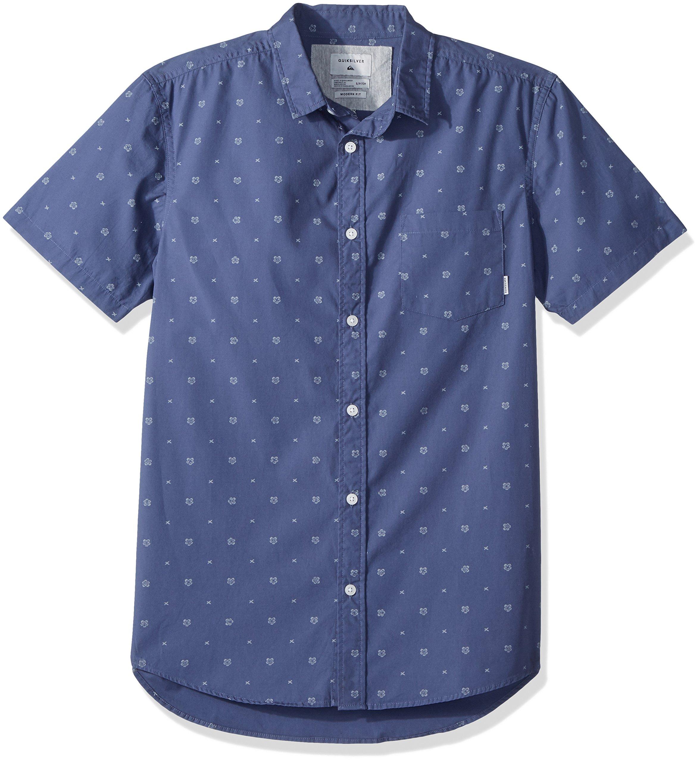 Quiksilver Men's Kamanoa Short Sleeve, Vintage Indigo Kamanoa, XXL