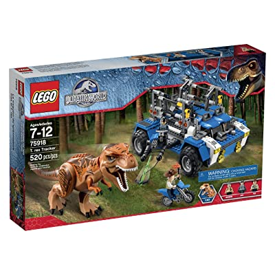 Lego Jurassic World T. Rex Tracker 75918 Building Kit: Toys & Games