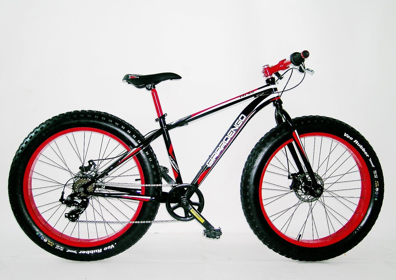 Girardengo Bicicleta Acero Fat- Bike Negro/Rojo: Amazon.es ...