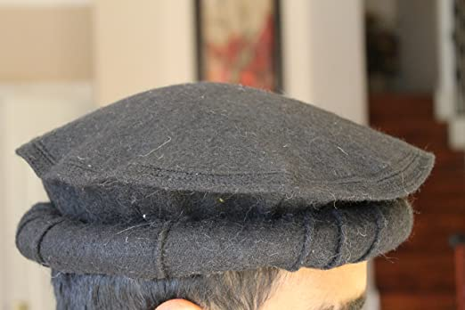 Amazon.com  100% wool Handmade Chitrali Cap Afghani Pakol (Hat) from  Pakistan   Afghanistan (Black)  Clothing c4b56bbdeae8