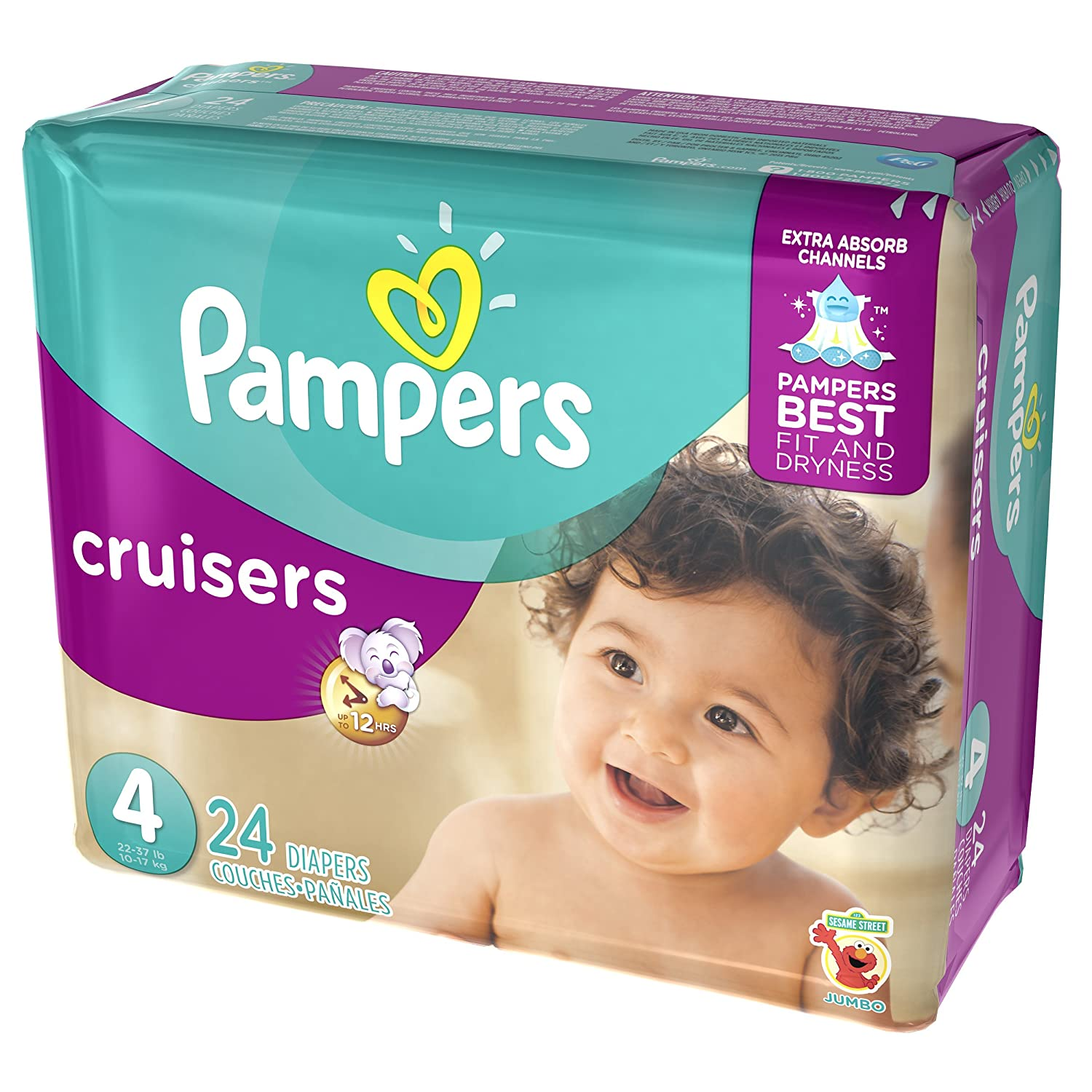 Amazon.com: Pampers Cruisers Disposable Diapers Size 4, 24 Count, JUMBO: Health & Personal Care