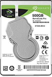 Seagate BarraCuda Pro 500GB Internal Hard Drive Performance HDD – 2.5 Inch SATA 6Gb/s 7200 RPM 128MB Cache for Computer Desktop PC Laptop, Data Recovery (ST500LM034)