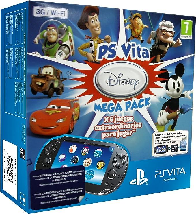 PlayStation Vita - Consola 3G + Mega Pack Disney + Tarjeta De ...